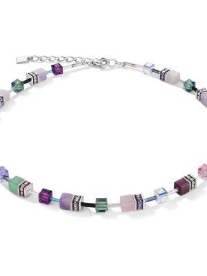 Coeur de Lion 4905/10-0840 Halskette GeoCUBE® Swarovski® Kristalle & Edelsteine Flieder-Grün