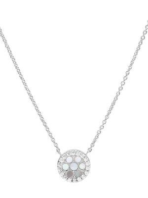 Fossil JFS00520040 Halskette mit Anhänger Damen Perlmutt Silber 45 cm