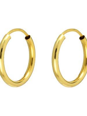 Ohrringe, Creole aus 375 Gelbgold, Valeria 87698688, EAN: 4040615345086
