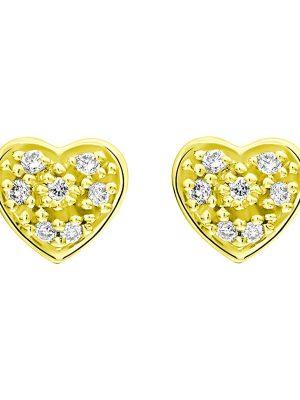 Ohrringe, Ohrstecker aus 375 Gelbgold, Valeria 1230.0460