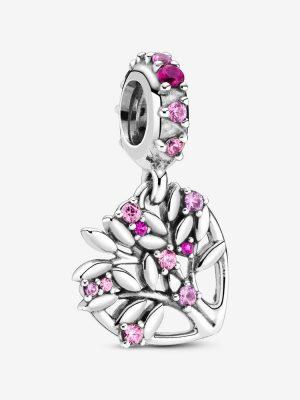 Pandora 799153C01 Charm-Anhänger Rosafarbener Familienstammbaum