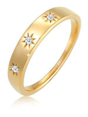 Ring Verlobung Stern Diamant (0.045Ct.) 585 Gelbgold DIAMORE Gold