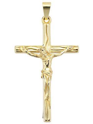 SIGO Anhänger Kreuz 585 Gold Gelbgold Kreuzanhänger Goldkreuz