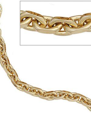 SIGO Ankerarmband 585 Gold Gelbgold 21 cm Armband Goldarmband Karabiner