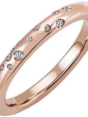 SIGO Damen Ring 585 Gold Rotgold Roségold 34 Diamanten Brillanten Diamantring