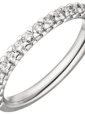 SIGO Damen Ring 585 Gold Weißgold 14 Diamanten Brillanten 0,56 ct. Diamantring