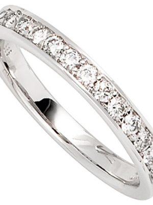 SIGO Damen Ring 585 Gold Weißgold 17 Diamanten Brillanten 0,50ct. Weißgoldring
