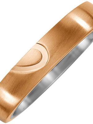 SIGO Partner Ring Halbes Herz aus Titan und Bronze Partnerring
