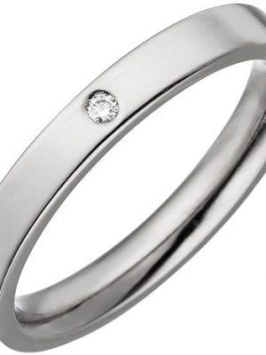 SIGO Partner Ring schmal aus Titan 1 Diamant Brillant Partnerring Titanring
