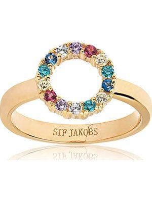 Sif Jakobs Jewellery Damen-Damenring 925er Silber Zirkonia Sif Jakobs Gelbgold