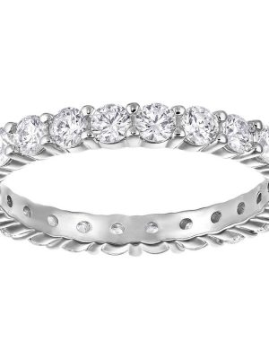 Swarovski 5257490 Ring Vittore XL Weiss Silber-Ton Gr. 50