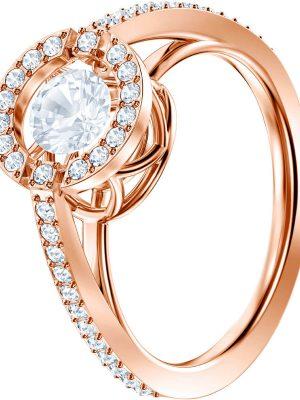 Swarovski 5482703 Ring Sparkling Dance Round Weiss Rosé Vergoldung Gr. 52