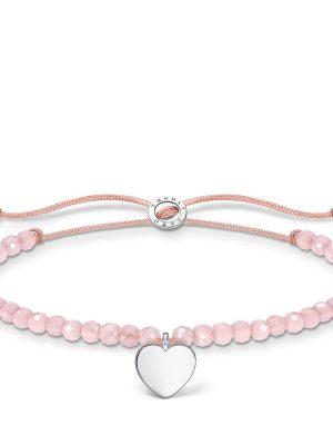 Thomas Sabo A1985-813-9 Armband Damen Rosa Perlen mit Herz Silber