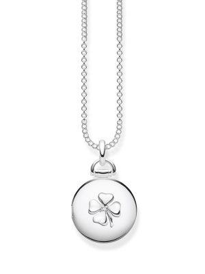 Thomas Sabo D_KE0038-725-14 Kette Medaillon Kleeblatt Rund Silber 45 cm