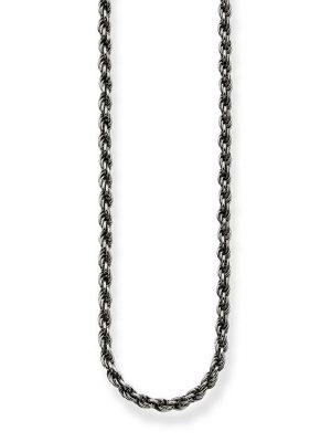 Thomas Sabo KE1348-637-12 Kordel-Kette Geschwärzt Sterling-Silber 90 cm