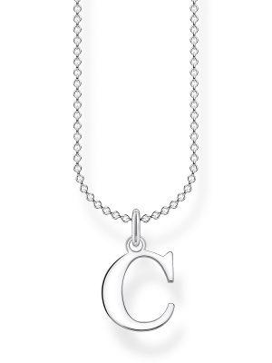 Thomas Sabo KE2012-001-21 Halskette mit Anhänger Buchstabe C Sterling-Silber