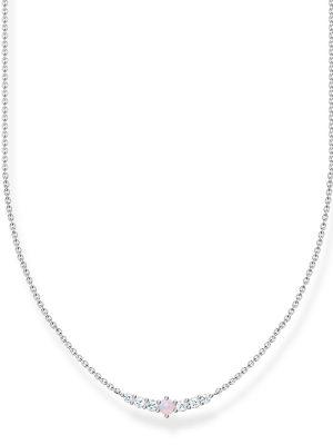 Thomas Sabo KE2093-166-7 Halskette Vintage Opal-Imitation Rosa Silber