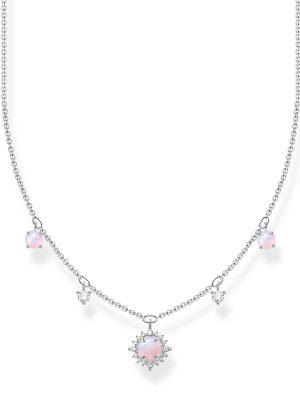 Thomas Sabo KE2094-166-7 Halskette Vintage Opal-Imitation Rosa Silber