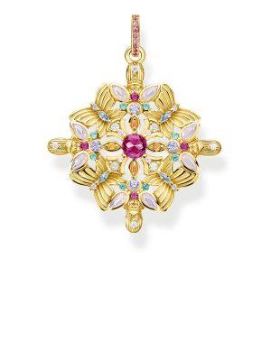 Thomas Sabo PE877-996-7 Ketten-Anhänger Amulett Kaleidoskop Schmetterling Silber Vergoldet