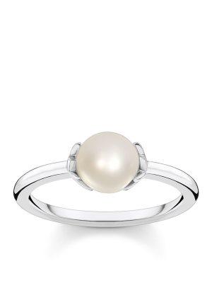 Thomas Sabo TR2298-167-14 Ring Damen Perle mit Sternen Silber Gr. 58