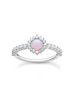 Thomas Sabo TR2344-166-7 Ring Damen Opal-Imitation Rosa Silber Gr. 52