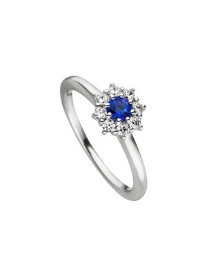 Viventy 783381 Ring Damen Blau Topaz Zirkonia Sterling-Silber Gr. 56