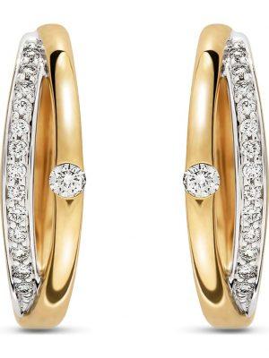 CHRIST Damen-Creolen 585er Gelbgold teilrhodiniert 2 Diamant CHRIST C-Collection gelbgold