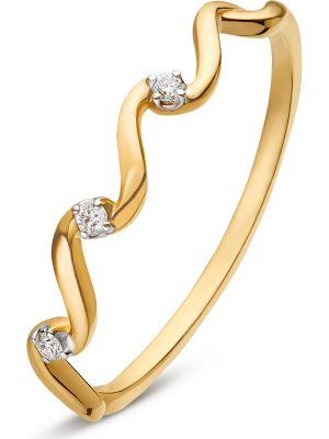 CHRIST Damen-Damenring 3 Diamant CHRIST C-Collection gelbgold