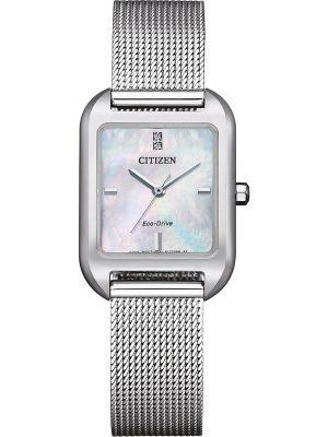 Citizen Damenuhr Elegance EM0491-81D, silber, EAN: 4974374304230