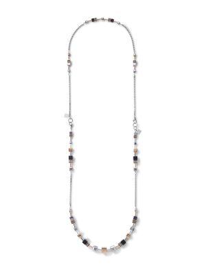 Coeur de Lion 5008/10-1631 Halskette GeoCUBE® Multitask 4-in-1 Edelstahl Roségold-Silber 87 cm