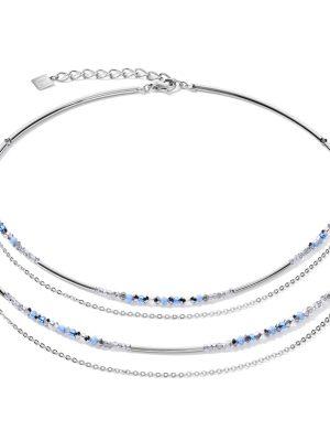 Coeur de Lion 5040/10-0720 Halskette Damen Fine Waterfall Hellblau Silber Edelstahl