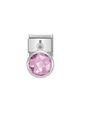 Nomination Classic - Composable Classic - Charm runder Facett Pink - 031713/003 pink