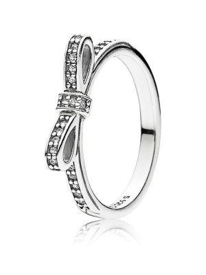 Pandora 190906CZ Ring Glitzernde Schleife Silber Gr. 50