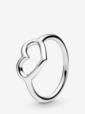 Pandora 198613C00 Ring Damen Veredeltes Herz Silber Gr. 54