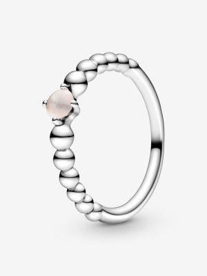 Pandora 198867C06 Ring Damen Roséfarbene Metallperlen Silber Gr. 54