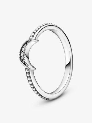 Pandora 199156C01 Ring Mondsichel Metallperlen Silber Gr. 50