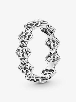 Pandora 199401C00 Ring Damen Rosenblüten Sterling-Silber Gr. 48