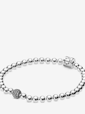 Pandora 598342CZ Armband Damen Beads Pavé Weiss Sterling-Silber 21 cm