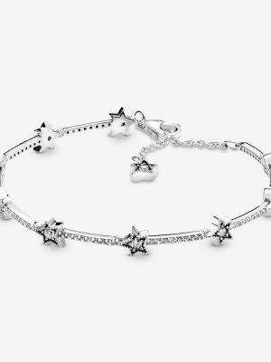 Pandora 598498C01 Armband Damen Himmlische Sterne Silber 20 cm