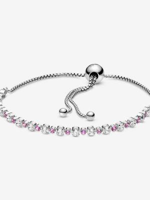 Pandora 598517C02 Armband Damen Rosa und Klar Funkelnd 25 cm