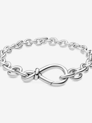 Pandora 598911C00 Gliederarmband Damen Kräftiges Unendlichkeitsknoten 16 cm