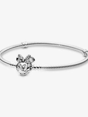 Pandora Disney 597770CZ Armband Pavé Minnie Maus-Kugelverschluss 21 cm