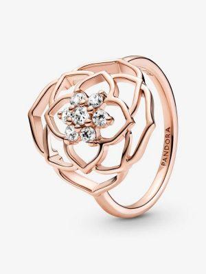 Pandora Rose 189412C01 Statement-Ring Damen Rosenblüten Gr. 50