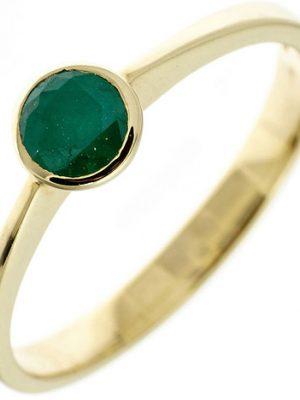 SIGO Damen Ring 333 Gold Gelbgold 1 Smaragd grün Goldring