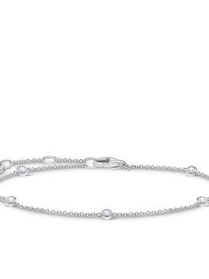 Thomas Sabo A1999-051-14-L19v Armband Damen Weiße Steine Silber