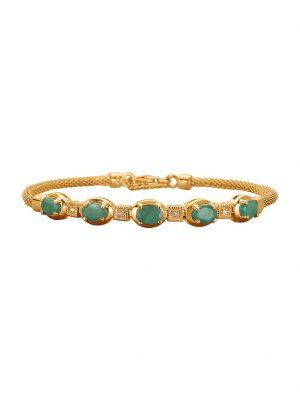 Armband mit Smaragden KLiNGEL Grün