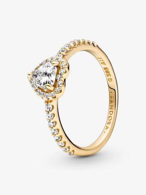 Pandora 159139C01 Ring Damen Erhabenes Herz 14k Gelbgold Gr. 58