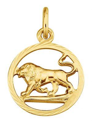 Sternzeichen-Anhänger Löwe in Gelbgold 585 KLiNGEL Gelbgoldfarben