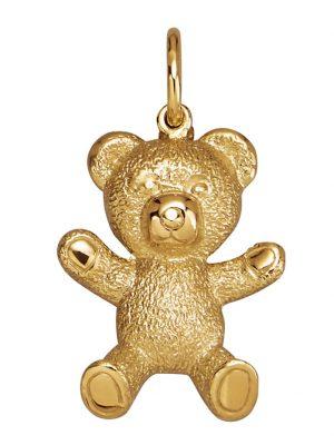 Bär-Anhänger Diemer Gold Gelbgoldfarben