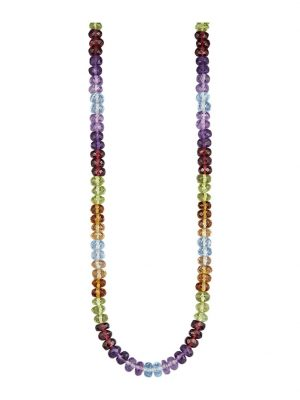 Halskette Diemer Farbstein Multicolor